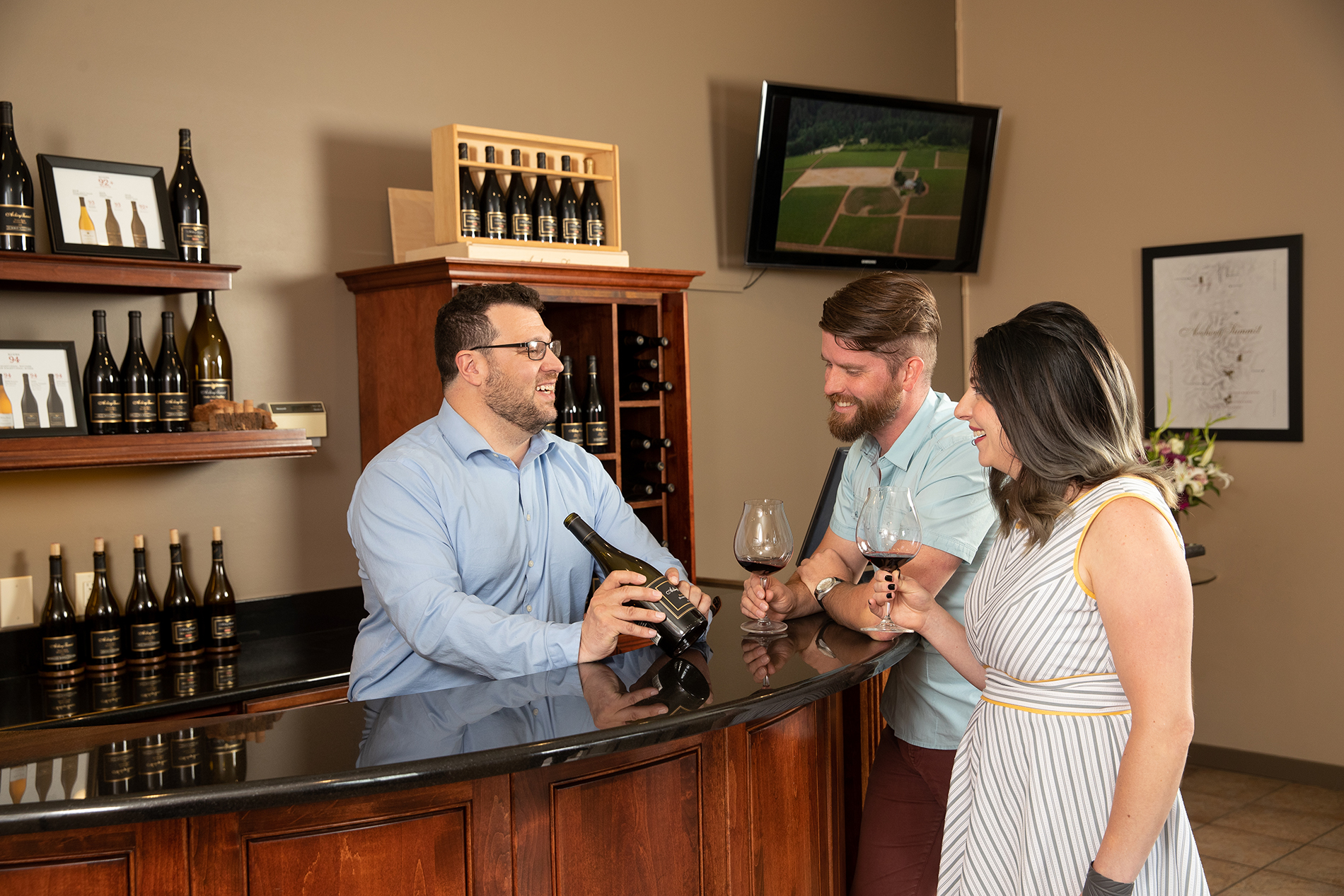 Guests at Tasting Room
